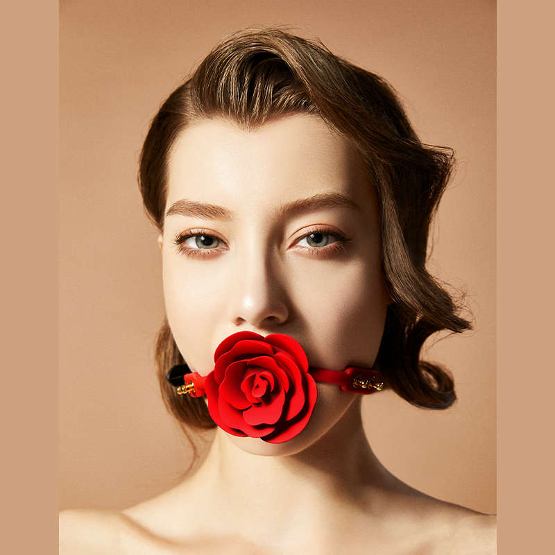 UPKO|口銜玫瑰 玉液垂流|玫瑰口球