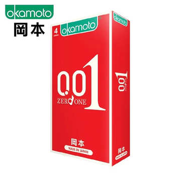 【日本の赤い悪魔】OKAMOTO 岡本001至尊勁薄 ZERO ONE(4入)