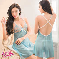 睡衣(愛在今夜)T1624-水藍-F