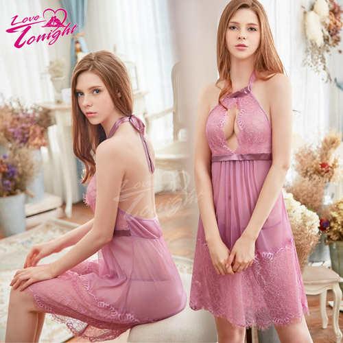 睡衣(愛在今夜)T1629-藕紫-L