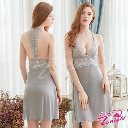 睡衣(愛在今夜)T1635-灰-L