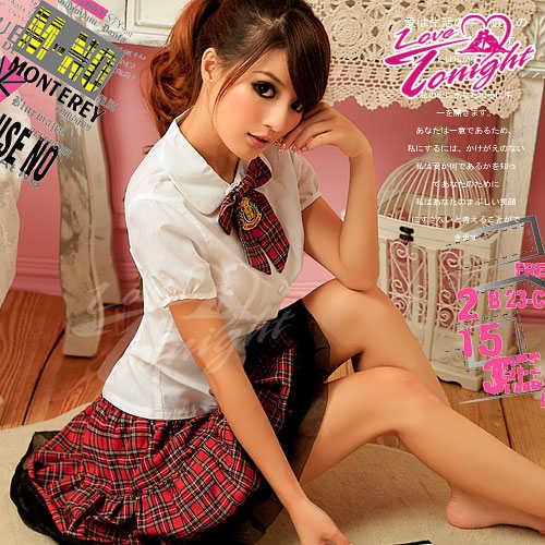 學生服(愛在今夜)T9123-白-F