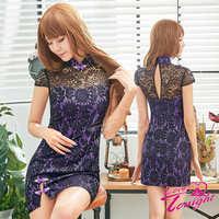 旗袍(愛在今夜)T9320-紫-F
