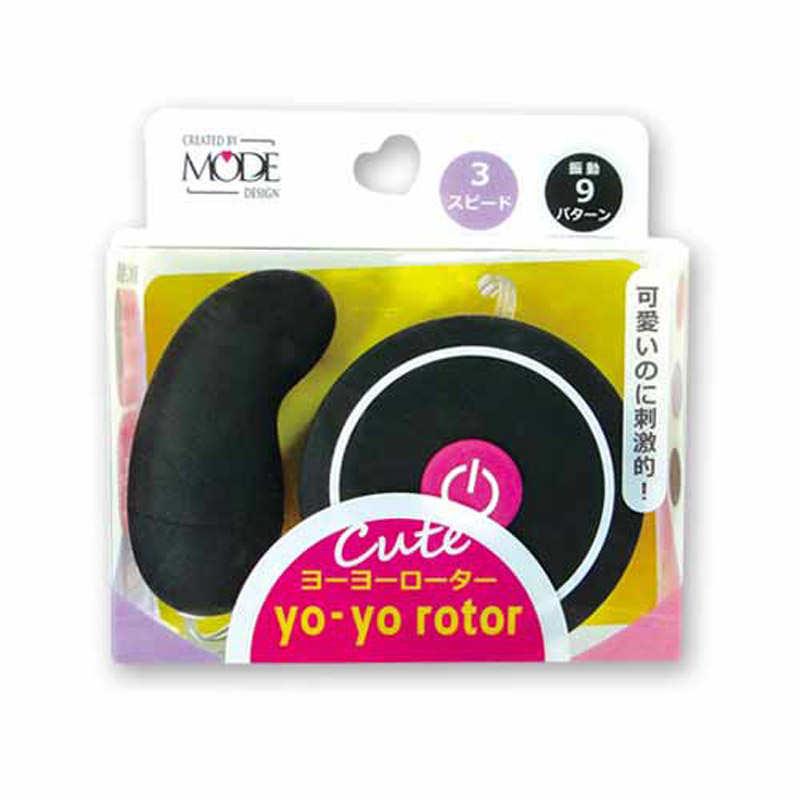 日本MODE_yo-yo rotor 可愛造型跳蛋(黑)