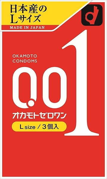 Okamoto|岡本 超薄型 0.01 保險套 3個入 - L