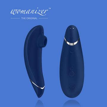 深藍-Womanizer Premium 玩美女人 吸吮愉悅器