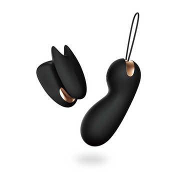 iobanana指夾雙震按摩器(黑)