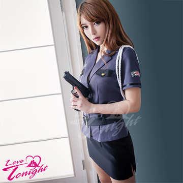 警察服(愛在今夜)T9276-黑藍-F