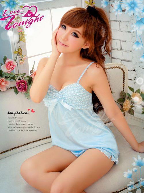睡衣(愛在今夜)T1354-藍-兩件