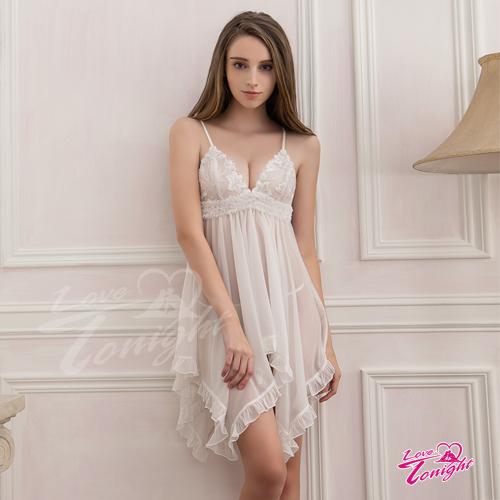 睡衣T1414-白-L