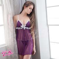 睡衣T1419-紫-L