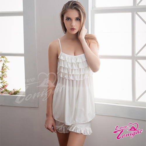 睡衣T1421-白-L