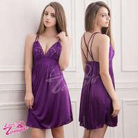 睡衣T1423-紫-L