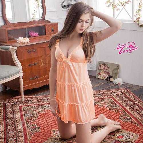 睡衣T1430-粉橘-L