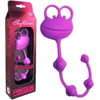 俏皮青蛙4球矽膠後庭拉珠-紫