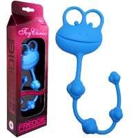 俏皮青蛙4球矽膠後庭拉珠-藍