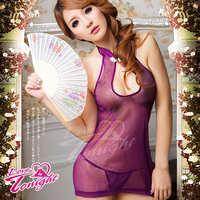 旗袍(愛在今夜)T9103-紫-F