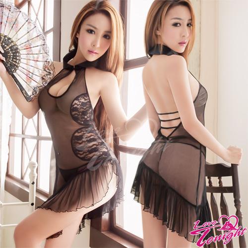 旗袍(愛在今夜)T9238-黑-F