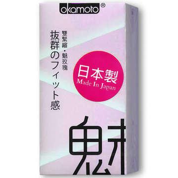 岡本Okamoto-玫瑰花紋保險套-魅10入