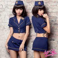 空姐服(愛在今夜)T9139-藍-F