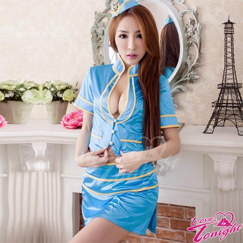 空姐服(愛在今夜)T9256-藍-F