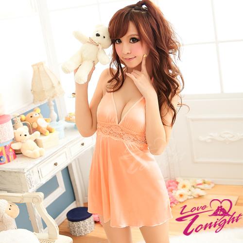 睡衣(愛在今夜)T1130-粉橘-F