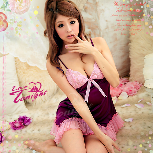 睡衣(愛在今夜)T1140-粉/紫-F