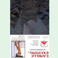 蝴蝶大腿襪(網狀)(黑)T9001