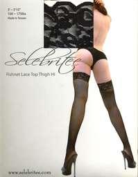 大腿襪-2041301-黑-F-蕾絲網襪