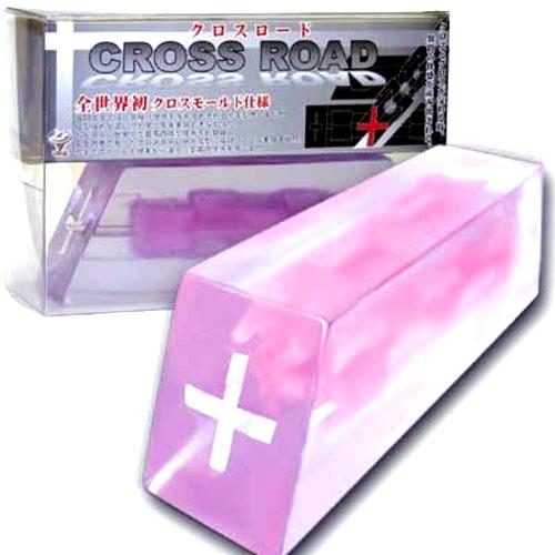 日本WinsCROSSROAD雙色十字口夾吸自慰器自慰套
