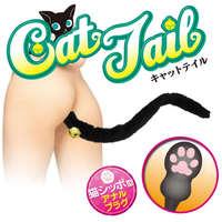可愛貓尾巴手型狀後庭塞-黑色