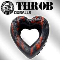 Throb 心型套環-紅黑