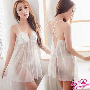 睡衣(愛在今夜)T1494-白-F