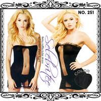 洋裝型貓裝-251-黑-F(不含褲)