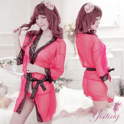 《Yisiting》蜜愛寵兒!性感誘惑大尺碼睡袍
