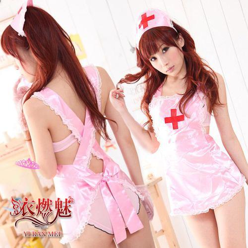 《YIRAN MEI》誘惑寶貝!柔緞三件式護士服