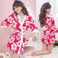 《YIRAN MEI》甜美嬌妻!柔緞和服睡袍組