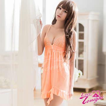 睡衣(愛在今夜)T1515-粉橘-F