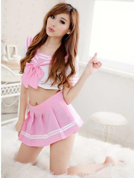 最強粉紅可愛打氣水手服