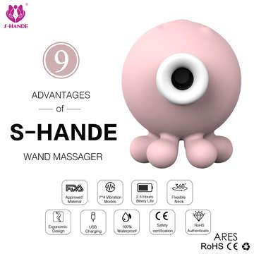 香港S-HANDE-OCTOPI 可愛小章魚 潮吹吸吮按摩器