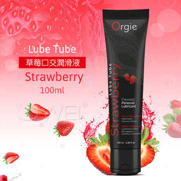 葡萄牙Orgie.Lube Tube Strawberry 草莓口交潤滑液-100ml