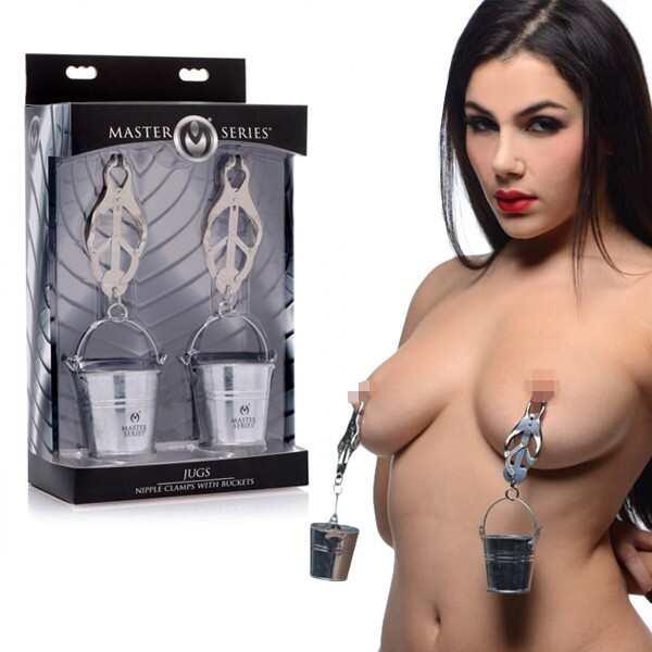 Master Series|JUGS BDSM 乳夾 不鏽鋼小水桶 乳頭夾
