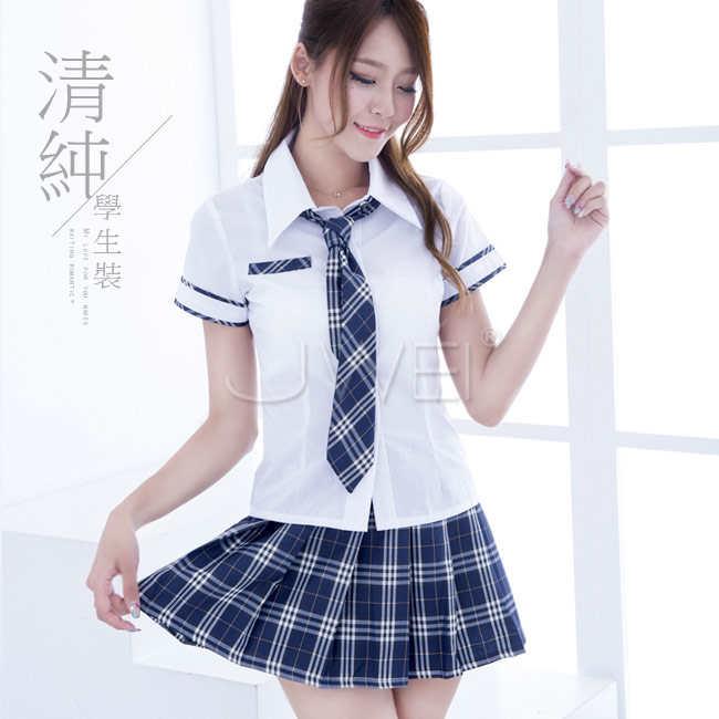 下課戀曲.格紋領帶純情學生服套裝